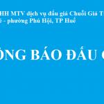 Thông báo Đấu giá quyền sử dụng đất khu đất 139 Phan Đình Phùng, phường Phú Nhuận, Tp Huế.