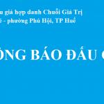 Thông báo đấu giá quyền sử dụng đất tại tổ 5, phường Phú Bài, thị xã Hương Thủy