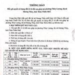 Thông báo đấu giá quyền sử dụng đất 21 lô đất xen ghép tại phường Thủy Lương, thị xã Hương Thủy, tỉnh Thừa Thiên Huế