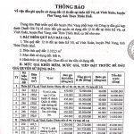 Thông báo về việc đấu giá quyền sử dụng đất 12 lô đất tại thôn Kế Võ, xã Vinh Xuân, huyện Phú Vang, tỉnh Thừa Thiên Huế