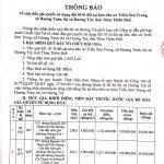 Thông báo đấu giá QSD đất 05 lô đất tại KDC Triều Sơn Trung, xã Hương Toàn, thị xã Hương Trà, tỉnh Thừa Thiên Huế