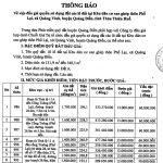 THÔNG BÁO: Về việc đấu giá quyền sử dụng đất các lô đất tại Khu dân cư xen ghép thôn Phổ Lại, xã Quảng Vinh, huyện Quảng Điền, tỉnh Thừa Thiên Huế.