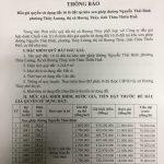THÔNG BÁO: Về việc đấu giá quyền sử dụng đất các lô đất xen ghép tại phường Thủy Lương, thị xã Hương Thủy, tỉnh Thừa Thiên Huế