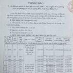 THÔNG BÁO Về việc đấu giá quyền sử dụng đất các lô đất tại Khu dân cư phía Đông Quảng Lợi, xã Quảng Lợi, huyện Quảng Điền, tỉnh Thừa Thiên Huế.